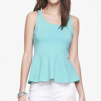 Zip Back Peplum Tank from EXPRESS