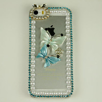cheap iphone 5c case cute butterfly iphone 5 case dragonfly iphone 4s case rhinestone phone cases women gift iphone 4 case skin iphone cover
