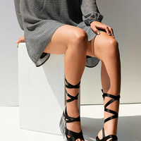 Intentionally Blank Classified Plaid Platform Sandals | Urban Outfitters