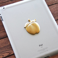 iPad Case with Apple Logo iPad Air Cover Clear Transparent Tablet Cases Cute iPad Mini Cases Rubber Silicon iPad 3 4 Case Gold iPad Cover
