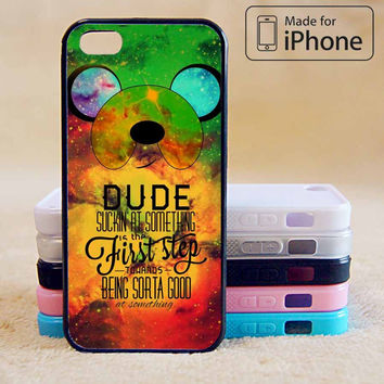 ADVENTURE TIME FINN QUOTE GALAXY NEBULA  For iPhone 6 Plus For iPhone 6 For iPhone 5/5S For iPhone 4/4S For iPhone 5C-5 Colors Available
