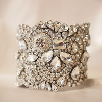 Our Classic All Swarovski Crystal Old Hollywood Rhinestone Cuff