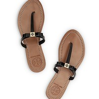 Leighanne Patent Flat Thong Sandal