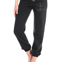 Butter Lace Skull Banded Sweats