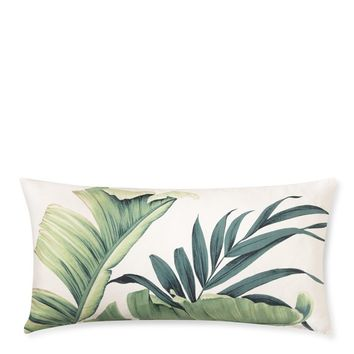 Tropical Printed Leaf Pillow Cover