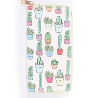 Succulent Party Zipper Wallet