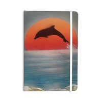 "Infinite Spray Art ""Dolphin Sunset"" Blue Gray Everything Notebook"