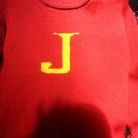 Weasley Jumper - any letter available - most colours available - sizes toddler to xxl adult