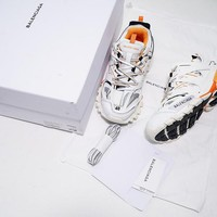 DCCK B302 Balenciaga Tess S. Gomma Trek Low Top Sneakers White Orange