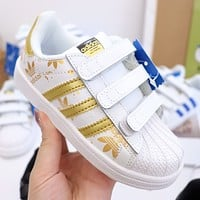 Adidas Child Girls Boys shoes Children boots Baby Toddler Kids Child Fashion Casual Sneakers Sport Shoes