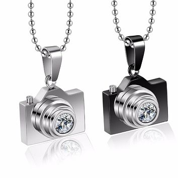 Stainless Steel Camera Necklace