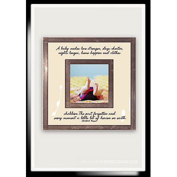 """A Baby Makes You Stronger 3""""x 3"""" Copper & Glass Photo Frame"""