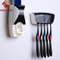 Hourong 1Set Automatic Toothpaste Dispenser Toothbrush Holder Squeezer Bathroom Set In Bathroom Product Accessories Set