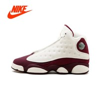 "Original New Arrival Authentic NIKE Air Jordan Retro 13 GG ""Bordeaux"" - 439358-112 Womens Basketball Shoes Sneakers Outdoor"