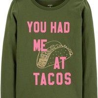 You Had Me At Tacos Jersey Tee