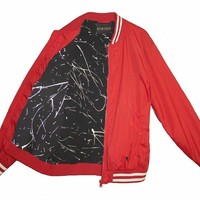 Urban Infusion Cherry Bomber Jacket