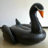 190cm 75inch Giant Swan Inflatable Pool Float White/Black/Gold Swimming Board For Adults Water Toy Fun Air Mattress Boia Piscina