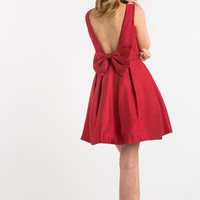 Blaire Red Bow Back Dress