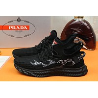 prada men fashion boots fashionable casual leather breathable sneakers running shoes 96