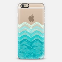 Teal Ombre Lace Layers iPhone 6 case by Organic Saturation | Casetify