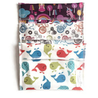 Set of 3 large snack bags, Reusable Snack Bags, EcoFriendly Snack Bags
