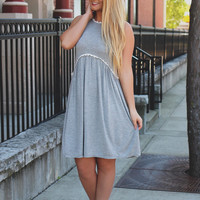 Desert Oasis Dress - Heather Grey