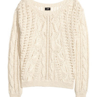 Pattern-knit jumper - from H&M