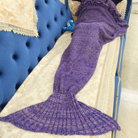 Extra Large Adult Women Fashion Bright Colors Cute Mermaid Tail Blanket Christmas Gift