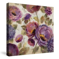 Laural Home ''Blue And Purple Flower Song'' Canvas Wall Art