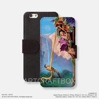 Rapunzel iPhone leather wallet cover iPhone case Samsung Galaxy case 156