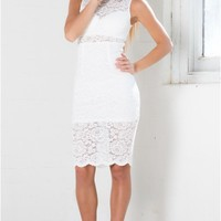 Hypnotise You Dress in White Lace