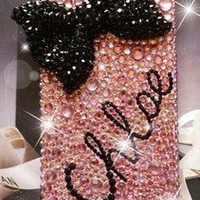 Iphone5 Bling case,Personalized iphone 5 case,Bow-tie iphne 5 case,Swarovski iphone 5 case