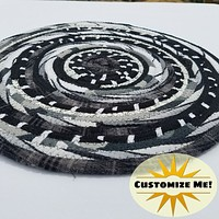 Black, White & Gray Colors: Mats, Rugs and More