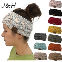 New Hot CC Knitted Crochet Twist Hat For Women's Winter Ear Warmer Elastic Turban Hair Accessories Beanie Hat Drop Shipping