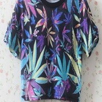 Fashion Vintage Sexy Casual Leaves Top from styleonline