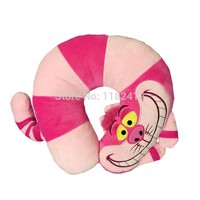 Cute Cheshire Cat Plush U Shaped Neck Pillow Cartoon Car Cushion Alice in Wonderland Girls Gifts