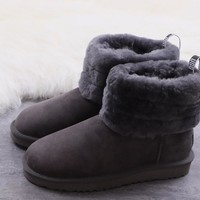DHL Women's UGG snow boots warm cotton shoes Fluff Mini Quilted _1686248855-123