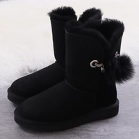 Women's UGG snow boots Mid-tube women's boots DHL _1686248855-389