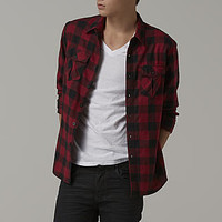 Adam Levine Men's Flannel Shirt - Buffalo Check