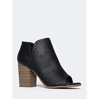 High Heel Wedge Ankle Boots