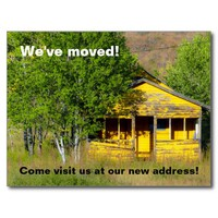 New Address / We've moved / funny new home Postcard