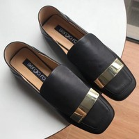 Sergio Rossi  Women Fashion Simple Casual Loafers  Shoes