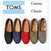 TOMS Women's Canvas Slip-On Toms Classic Shoes Fashion Flat Shoes
