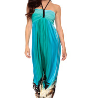 Deserted Paradise Halter Maxi Dress