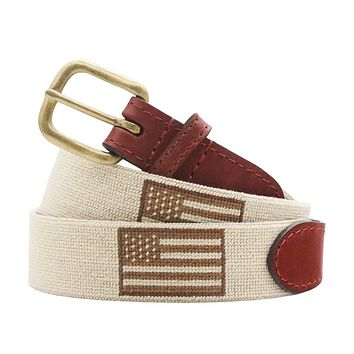 Armed Forces Flag Needlepoint Belt by Smathers & Branson