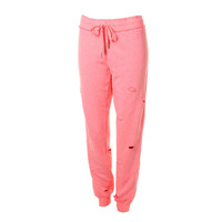 Guess Womens Heathered Destroyed Sweat Pants