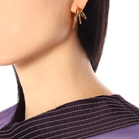 Triple Layered Hoop 18kt gold earrings