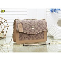 C Coach Fashion Women Shopping Leather Satchel Crossbody Shoulder Bag 2#