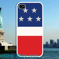 United States of America Flag iPhone 5 Case Cute Star Red Blue iPhone 4 case, iPhone 4S case, Hard Plastic Case, Iphone Cover, Vintage