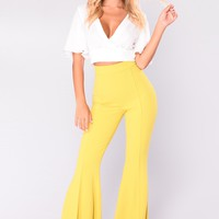 Letty Flare Pants - Mustard